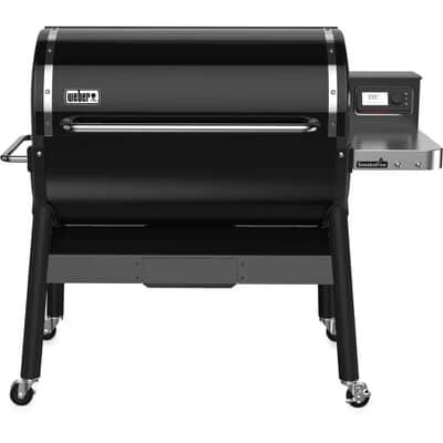 Weber� SmokeFire EX6 Black Wood Fired Pellet Grill BBQ