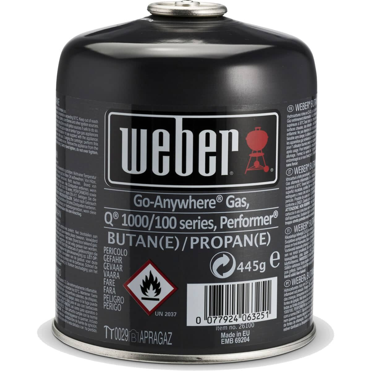 Weber® Disposable Gas Canister - Q™/Performer™