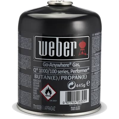 Weber® Disposable Gas Canister - Q™/Performer™/Go-Anywhere™ Gas