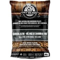 Pit Boss Grill Fuel All Natural Wood Pellets 9kg - Charcoal Blend