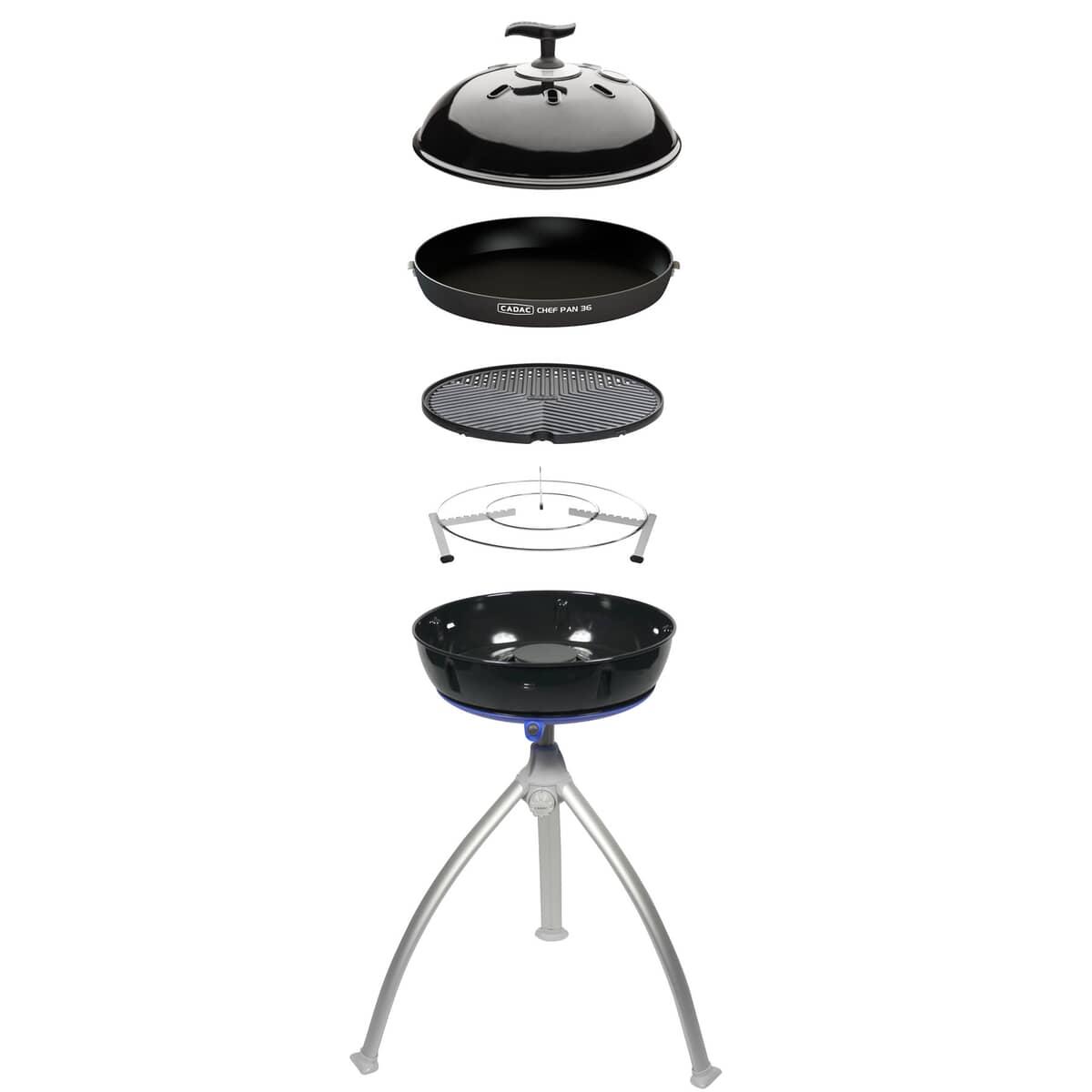 Cadac Carri Chef 2 Bbq Skottel Combo.Cadac Grillo Chef 2 Bbq Chef Pan Combo Gas Bbq