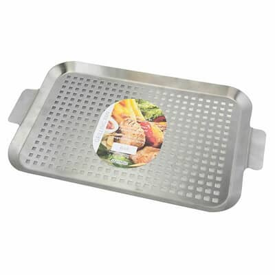 Apollo Shallow Stainless Steel Grill Pan Large