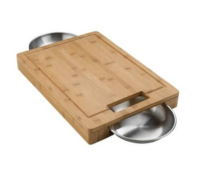 Napoleon PRO Cutting Board including 2 Stainless Steel Bowls