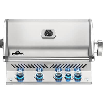 Napoleon Built In Prestige Pro BIPRO500RBPSS-3-GB with Proximity and Colour Changing Lights Propane Gas BBQ