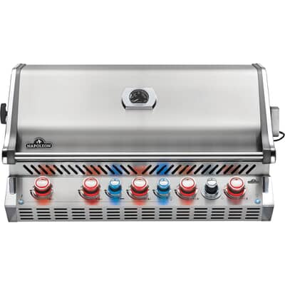 Napoleon Built In Prestige Pro BIPRO665RBPSS-3-GB with Proximity and Colour Changing Lights Propane Gas BBQ