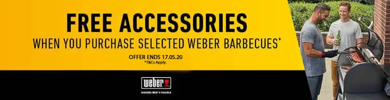 Free Accessories With Selected Weber Pulse Barbecues