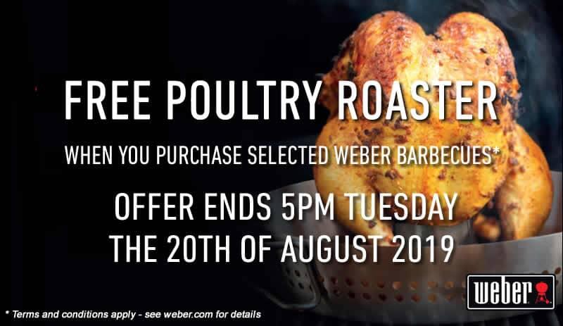 Weber Poultry Roaster Promotion