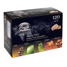 Bradley Smoker Flavour Bisquettes 120 Pack - Five Flavour Variety Pack