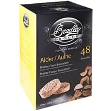 Bradley Smoker Flavour Bisquettes 48 Pack Alder Flavour