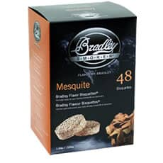 Bradley Smoker Flavour Bisquettes 48 Pack Mesquite Flavour