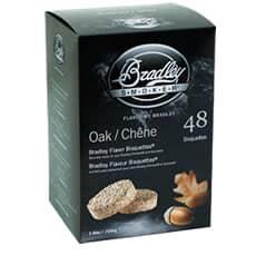 Bradley Smoker Flavour Bisquettes 48 Pack Oak Flavour