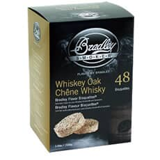 Bradley Smoker Flavour Bisquettes 48 Pack - Whiskey Oak