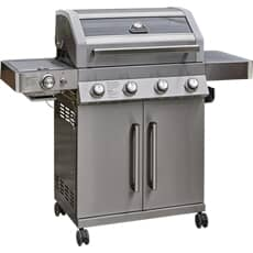Grillstream Gourmet 4 Burner Hybrid with Steak Shelf - Stainless Steel Gas BBQ