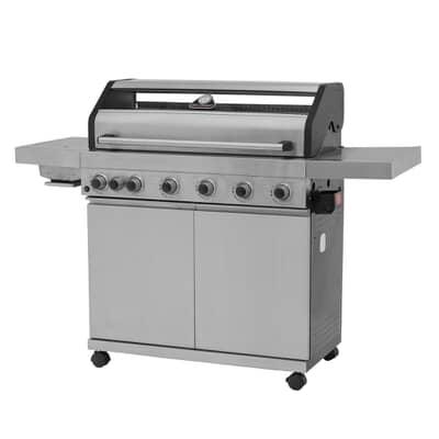 Grillstream Elite 6 Burner Hybrid with Steak Shelf - Stainless Steel