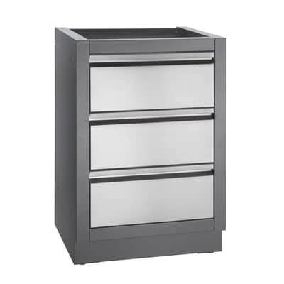 Napoleon Oasis 3 Drawer Cabinet Carbon