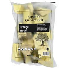 Smokey Olive Wood Chunks N�5 - 1.5 kg - Orange Wood