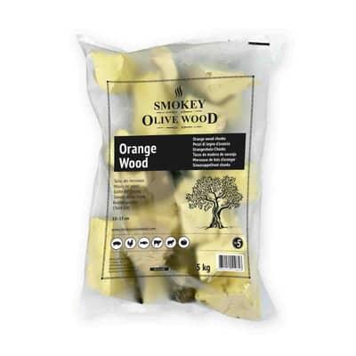Smokey Olive Wood Chunks N�5 - 5 kg - Orange Wood
