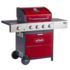 Outback 2019 Meteor 4 Burner Gas BBQ - Red