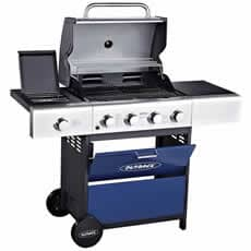 Outback 2019 Meteor 4 Burner Gas BBQ - Blue