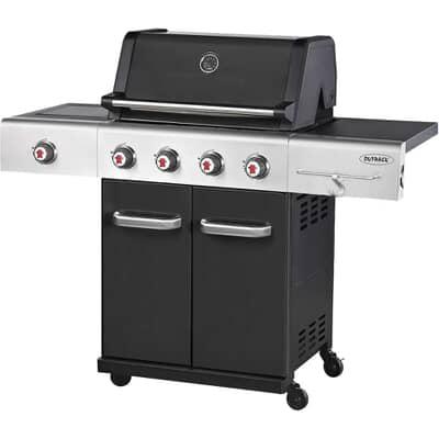 Outback 2019 Gourmet 4 Burner Gas BBQ - Black