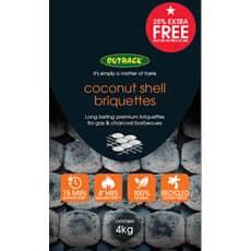 Outback Hybrid Coconut Shell Briquettes 4kg