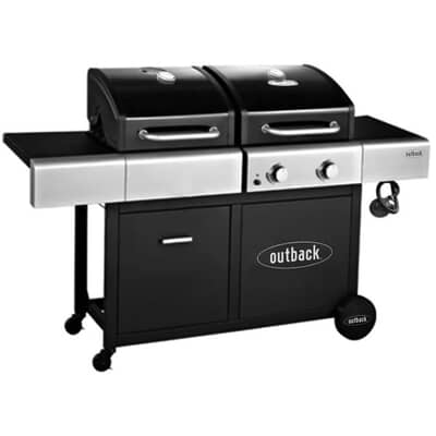 Outback 2021 Combi Dual Fuel Charcoal and Gas BBQ - 2 Burner