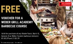 Claim a voucher for the Weber Grill Academy - 78