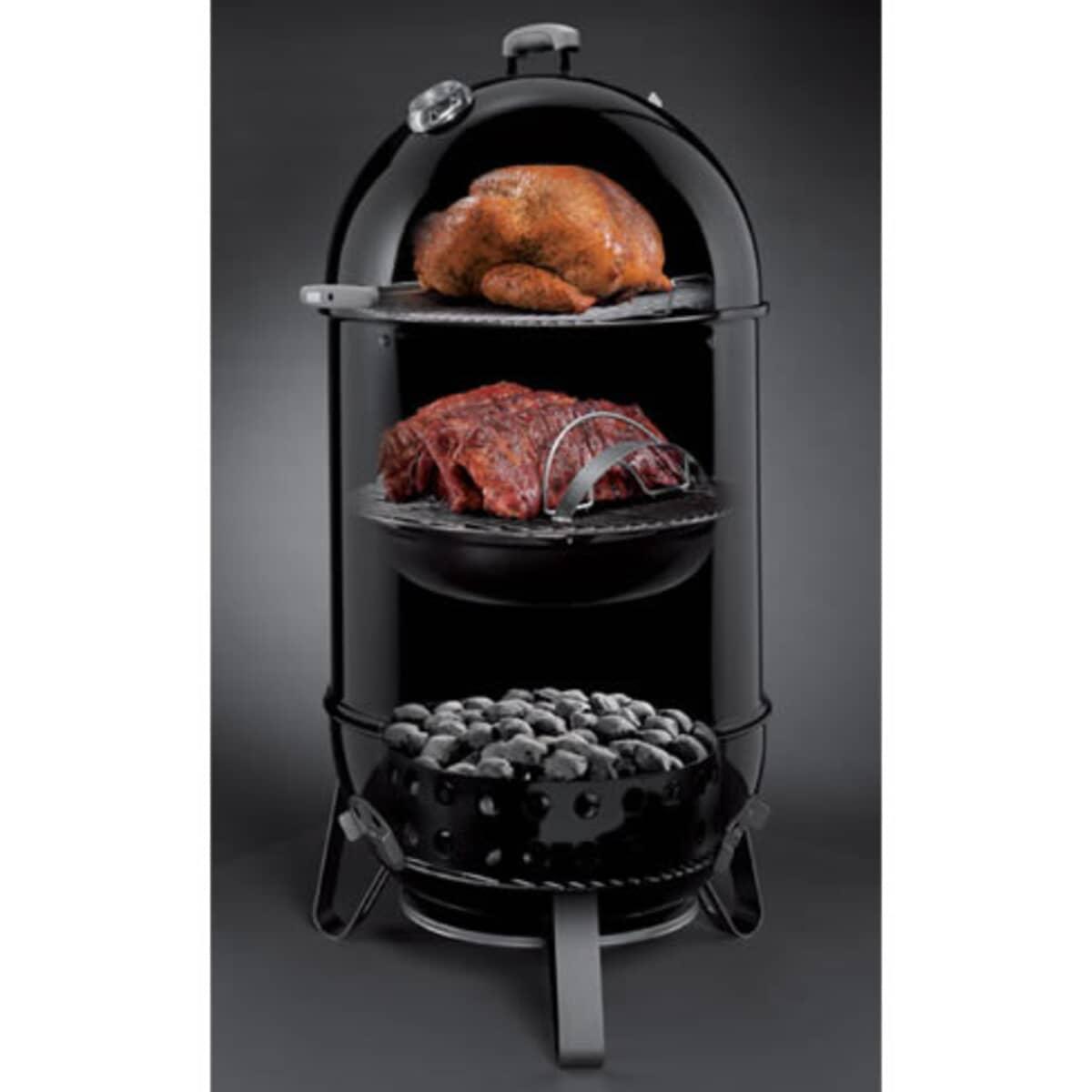 Weber Smokey Mountain Cooker 37cm Black Bbq 711004 Bbq World