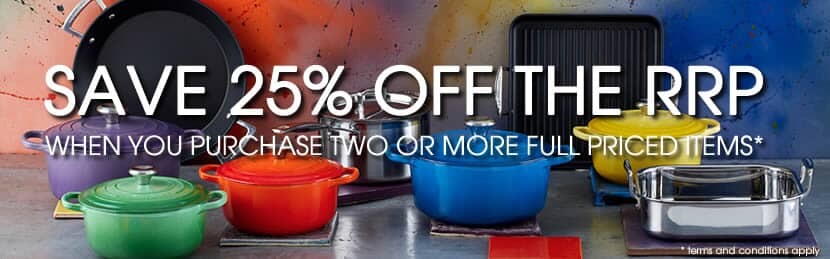 25% Off The RRP On Le Creuset Cookware