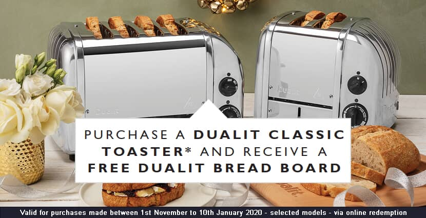 Free Bread Board with Dualit Toasters