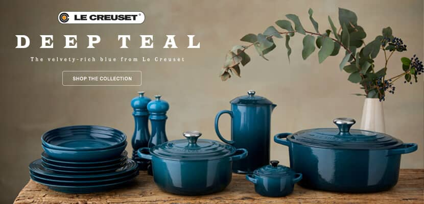 New Le Creuset Deep Teal