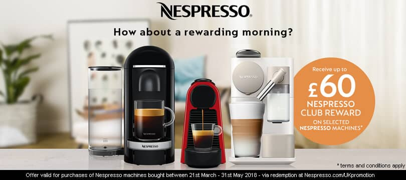 nespresso coffee machines promotion
