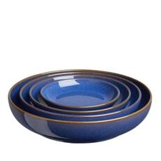Denby Imperial Blue 4 Piece Nesting Bowl Set
