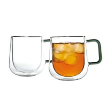 Ravenhead Set Of 2 Double-Walled Latte Mugs 30cl