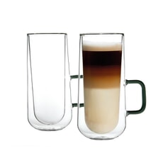 Ravenhead Set Of 2 Doube-Walled Latte Mugs 34cl