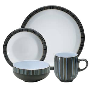 Denby Jet Stripes 16 Piece Boxed Set