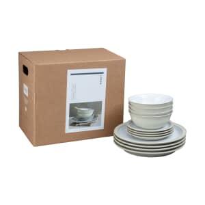 Denby Linen 12 Piece Tableware Set