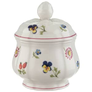 Villeroy And Boch Petite Fleur 6 Person Covered Sugarpot 0.20L