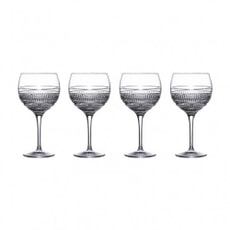 Royal Doulton Radial Gin Balloon Glasses Set Of 4