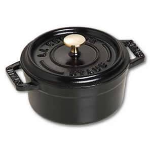 Staub - 10cm Round Cast Iron Cocotte Black