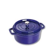 Staub - 22cm Round Cocotte Dark Blue
