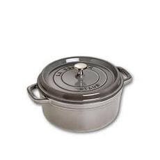 Staub - 24cm Round Cocotte Graphite Grey