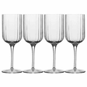 Luigi Bormioli Bach White Wine 280ml Glass Set Of 4