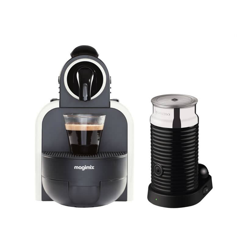 magimix nespresso essenza white sand and aeroccino 3 11313 ecookshop. Black Bedroom Furniture Sets. Home Design Ideas