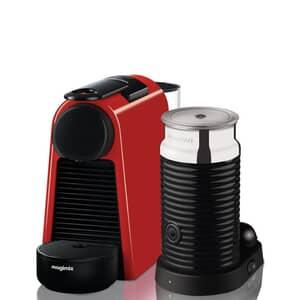 Magimix Nespresso Essenza Mini Red And Aeroccino