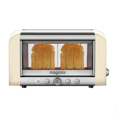 Magimix Vision 2 Slice Stainless Steel and Glass Toaster - Cream