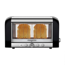 Magimix Vision 2 Slice Stainless Steel And Glass Toaster - Black