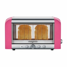 Magimix Vision 2 Slice Stainless Steel And Glass Toaster - Pink