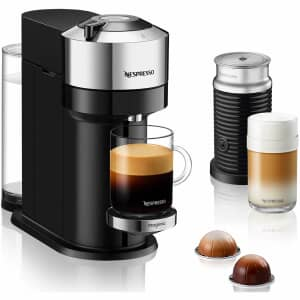 Magimix Vertuo Next Chrome Nespresso Coffee Machine + Milk Frother
