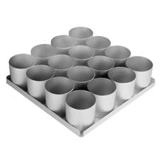 Anodised Bakeware Round Mini Cake Pan 16 Piece Set (2